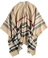 FRAAS Ruana in Polyacryl-Mix mit klassischem FRAAS Plaid in beige
