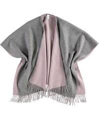 FRAAS Wollponcho in zweifarbigem Design in rosa