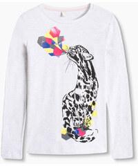 Esprit Splývavě tričko s dl. rukávem, leopardem