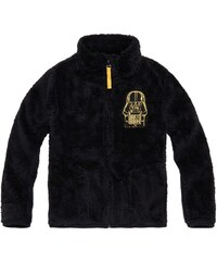 Star Wars-The Clone Wars Coral Fleece Jacke schwarz in Größe 116 für Jungen aus 100 % Polyester
