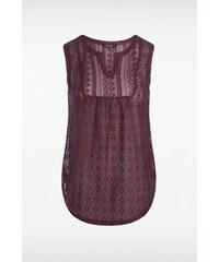 T shirt femme dentelle Rouge Nylon - Femme Taille L - Bonobo