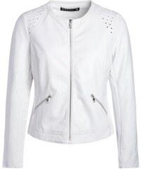 Veste similicuir zippée oeillets col Blanc Synthetique (polyurethane) - Femme Taille 44 - Bréal