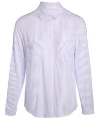 Chemise fines rayures bicolores Blanc Viscose - Femme Taille 0 - Cache Cache