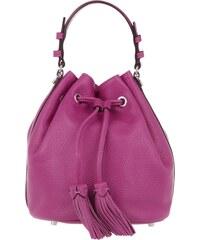 Abro Sacs à Bandoulière, Adria Bucket Bag Calf Leather Pink en rose vif