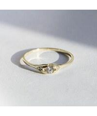 KLENOTA Zlatý diamantový prsten