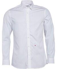 Moschino Herren Solid Poplin Hemd mit langem Arm Weiß