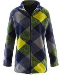 bpc selection Fleece-Mantel in grün für Damen von bonprix