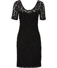 BODYFLIRT Spitzenshirtkleid/Sommerkleid kurzer Arm in schwarz von bonprix