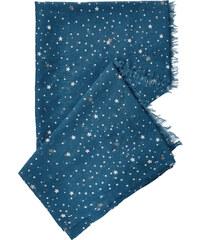 Cecil Fransentuch mit Sternenprint - celestial blue, Herren