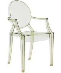 Židle Louis Ghost od KARTELL (transparentní zelená)