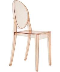 Židle Victoria Ghost od KARTELL (transparentní růžová)