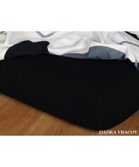 Dadka Jersey prostěradlo - černá J2 C 160-180/200/15