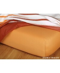 Dadka Jersey prostěradlo - karamel J2 B 160-180/200/15