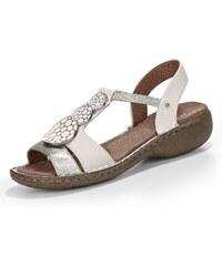 Große Größen: Jenny Korsika Sandale, weiß/silber, Gr.36-42