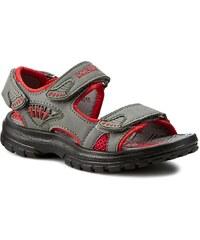 Sandalen WALKY - CP50-84010 Szary/Czerwony