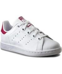 Schuhe adidas - Stan Smith C BA8377 Ftwwht/Ftwwht/Bopink