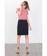 Esprit Pouzdrová sukně s ozdobnými přezkami