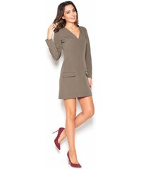 KATRUS Dámské šaty K373 olivová