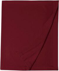 Měkká fleecová deka - Hnědočervená univerzal
