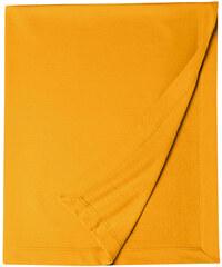 Měkká fleecová deka - Tmavě žlutá univerzal