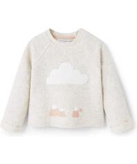 MANGO BABY Besticktes Baumwoll-Sweatshirt