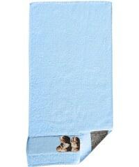 Frottiertuch Dyckhoff blau 50x100 cm, Handtuch,70x140 cm, Duschtuch