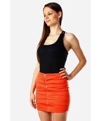 YooY Zeštíhlující sukně se zipem oranžová