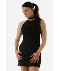 Glara Krátke šaty so zaväzovaním za krk d7040d0b541