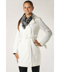 YooY Dámský jarní stylový kabátek s imitací krajky bílá
