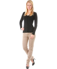 YooY Dámské elegantní kalhoty hnědá