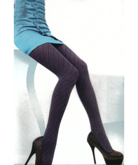 YooY Dámské punčocháče se vzorem fialová
