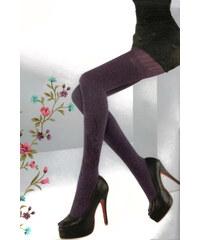 YooY Dámské stylové punčocháče fialová