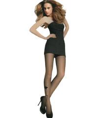 YooY Dámské punčocháče s obrázkem černá