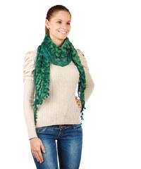 YooY Elegantní hřejivá šála zelená