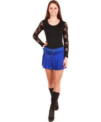 YooY Dámská skládaná sukně modrá