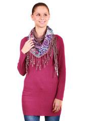 YooY Stylový, hřejivý šátek starorůžová