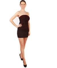 TopMode Třpytivé mini šaty bez ramínek (červená 9c9026c75c4