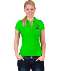 YooY Krásné tričko s límečkem zelená