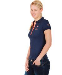 YooY Krásné tričko s límečkem modrá