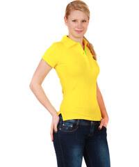 YooY Krásné tričko s límečkem žlutá