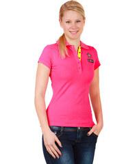 YooY Krásné tričko s límečkem růžová