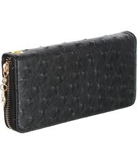 YooY Dámská luxusní peněženka umělá kůže černá
