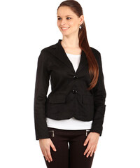 YooY Krásné sako s krajkou černá