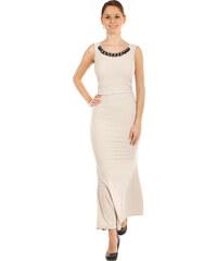 5080c1ca7700 Glara Dlhé plesové šaty s aplikáciou