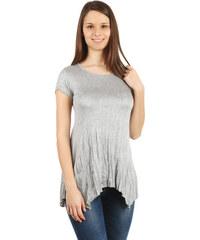 YooY Pohodlné tričko s krátkým rukávem šedá