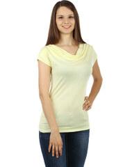 YooY Dámské elegantní tričko (světle žlutá 514eac2919