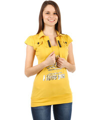 YooY Moderní bolerko s krátkým rukávem žlutá