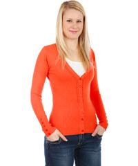 YooY Úžasný svetřík na knoflíky oranžová