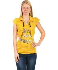 YooY Krásné bolerko k tričkům a k tílkům žlutá