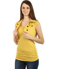 YooY Bolerko s límečkem a krátkým rukávem žlutá